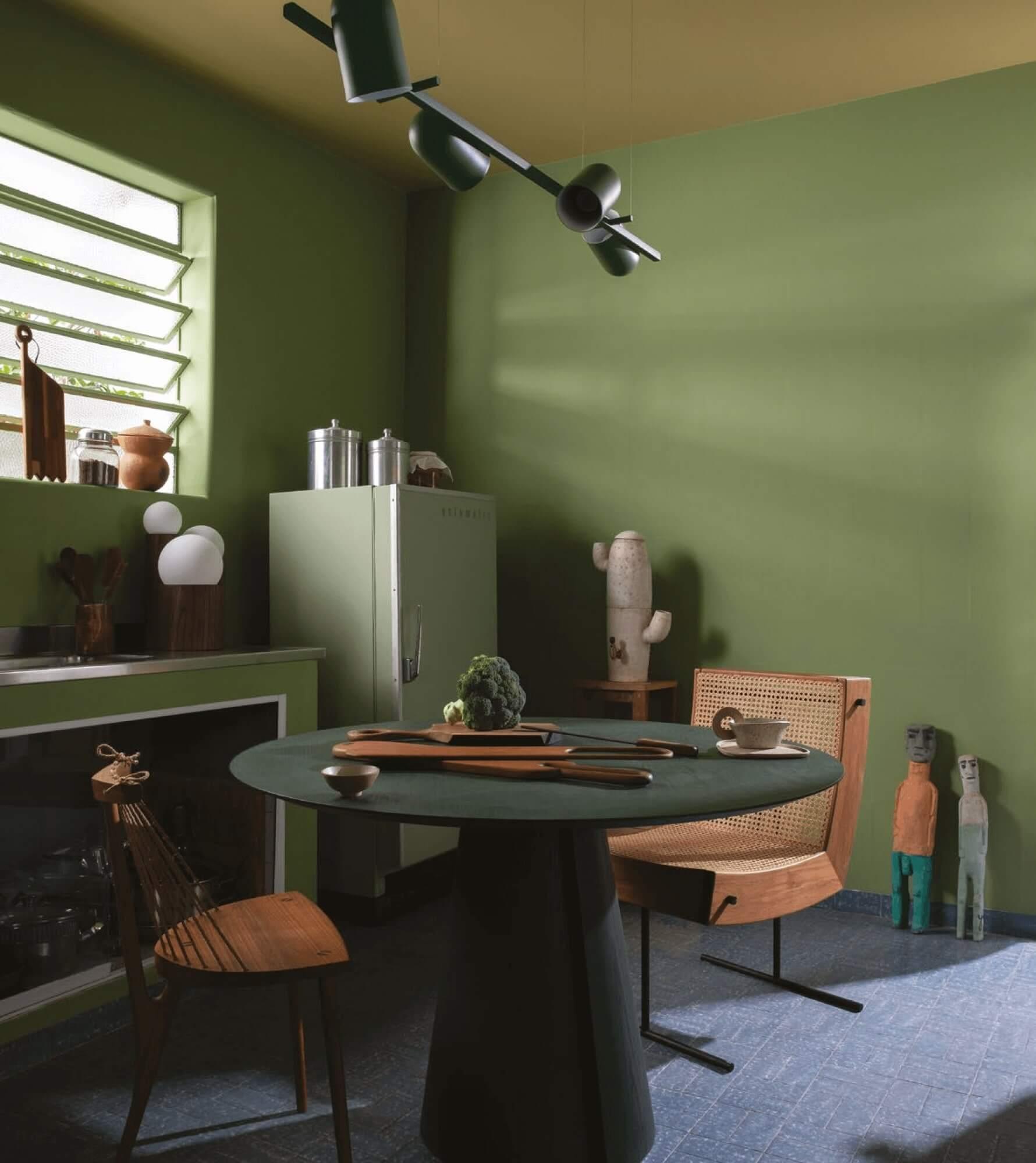 Verdes fervidos, filtrados, infusionados e temperados